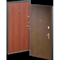 Виды обработки наружной поверхности входных металлических дверей: акриловая краска
