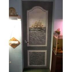 Типы материалов, применяемых для выполнения декупажа дверей
