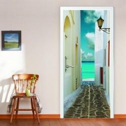 Отделка дверного блока фотообоями: тонкости самостоятельного выполнения работ