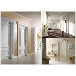 Разнообразие дизайна белых дверей